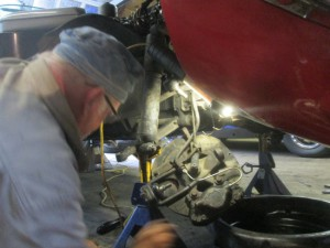Butch installs E-type bal joints