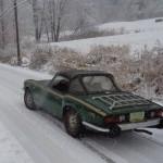 Spitfire in snow